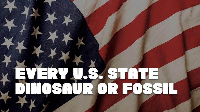 every u.s. state fossil dinosaur kids